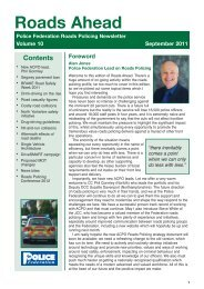 Roads Ahead newsletter - September 2011 - Police Federation