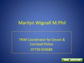 TRiM Coordinator for Devon & Cornwall Police