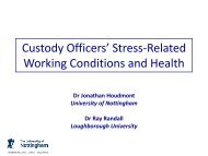 Custody Officers' Stress-Related Working ... - Police Federation