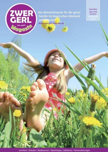 Das Monatsmagazin für die ganze Familie im Bayerischen Oberland und München