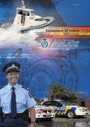 New Zealand Police Statement of Intent 2005/2006