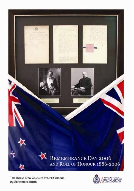 Remembrance Day 2006 and Roll of Honour 1889 - New Zealand ...