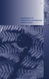 Statement of Objectives and Service Performance - New Zealand ...