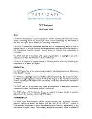 FATF Statement 16 October 2008