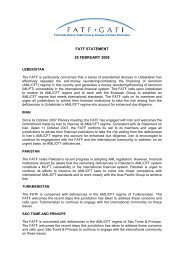 FATF STATEMENT 28 FEBRUARY 2008 - Council of Europe