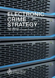Electronic Crime Strategy to 2010 - New Zealand Police