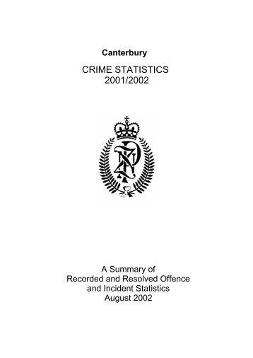 CRIME STATISTICS 2001/2002 - New Zealand Police