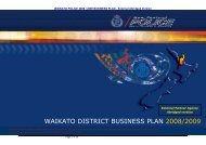 waikato district business plan 2008/2009 - New Zealand Police