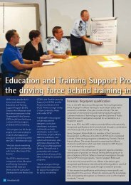 Education and Training Support Program - Queensland Police Service