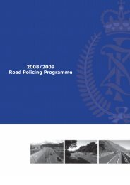 2008/2009 Road Policing Programme - New Zealand Police