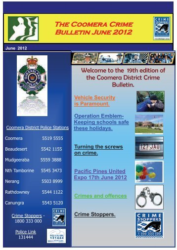 The Coomera Crime Bulletin June 2012 - Queensland Police Service