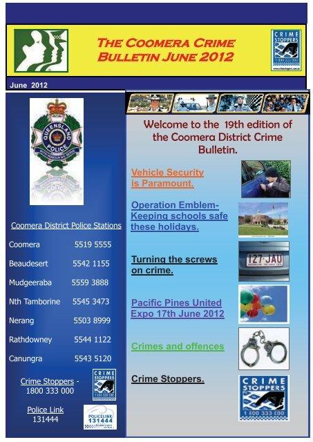 The Coomera Crime Bulletin June 2012 - Queensland Police Service