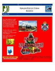 Gympie Crime Bulletin December 2011 - Queensland Police Service