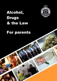 Alcohol, Drugs & the Law: For Parents - Queensland Police Service