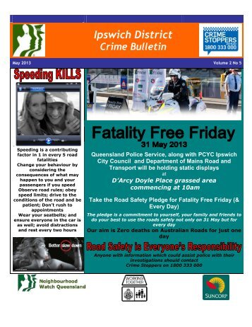Crime Bulletin - Ipswich - May 2013 - Queensland Police Service