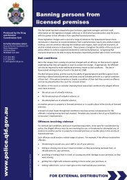 Banning Orders Information Sheet - Queensland Police Service ...