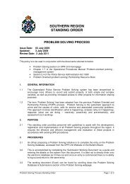Southern Region Problem Solving Process Policy - Queensland ...
