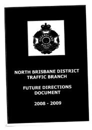 North Brisbane District Traffic Branch Future Directions Document ...