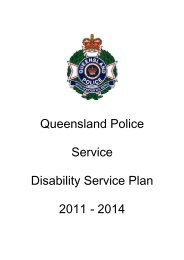 Queensland Police Service Disability Service Plan 2011 - 2014