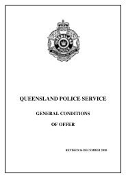 QPS General Conditions of Offer - Queensland Police Service ...
