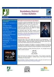 Bundaberg District Crime Bulletin - Queensland Police Service