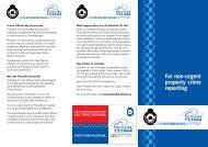 Policelink Brochure - Queensland Police Service
