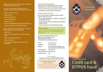 Credit card & EFTPOS fraud - Queensland Police Service