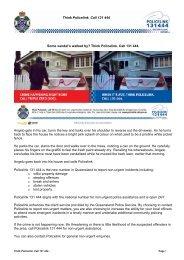 Policelink Wilful damage article 13.10.10 - Queensland Police Service