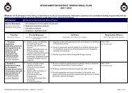 Rockhampton District Operational Plan 2011-2012 - Queensland ...