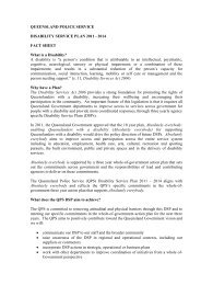 Disability Service Plan Fact Sheet - Queensland Police Service ...