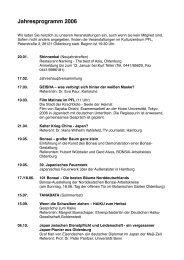 Jahresprogramm 2006 - DJG Oldenburg