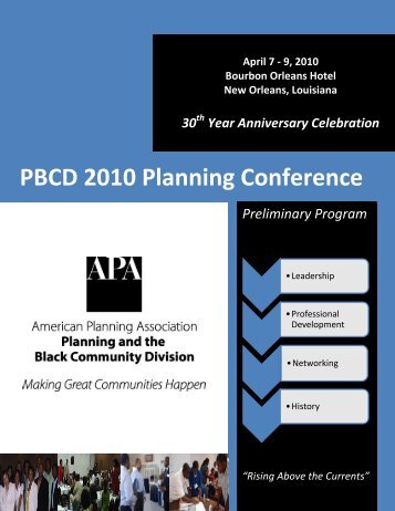 PBCD 2010 Planning Conference: Preliminary Program - PolicyLink