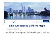 Eine europäische Bankengruppe