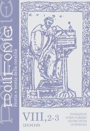Riviste Polifonie/062_Pol VIII 2-3 2008.pdf - Fondazione Guido d ...