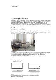 Die Schlafkollektion Arca - Poliform