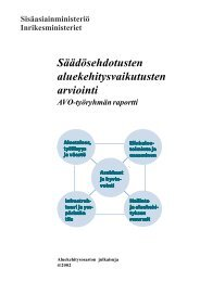 Säädösehdotusten aluekehitysvaikutusten arviointi - Poliisi