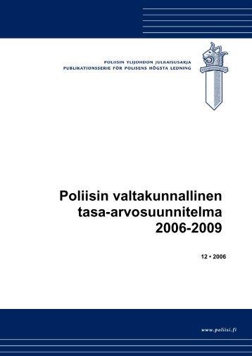 Poliisin valtakunnallinen tasa-arvosuunnitelma 2006-2009