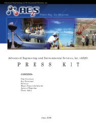 Press Kit.indd - Advanced Engineering and Environmental Services ...