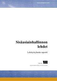 Sisäasiainhallinnon lehdet - lehtityöryhmän raportti - Poliisi