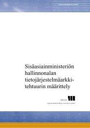 Sisäasiainministeriön hallinnonalan ... - Poliisi
