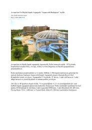 Avrupa'nın En Büyük Kapalı Aquaparkı