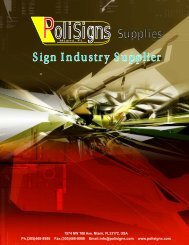 Sign Industry Supplier - PoliSigns