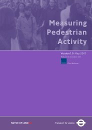 Measuring Pedestrian Activity - London