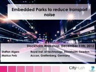 Embedded parks to reduce transport noise
