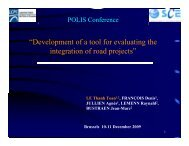 """""""Development of a tool for evaluating the integration of road projects"""""""