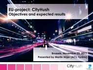 Objectives and expetcted results - CityHush