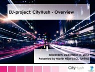 Introduction to the CityHush project