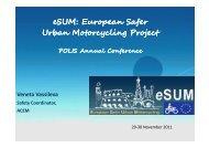 European safety urban motorcycling