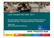 Local Transport Plan 2006 –2011