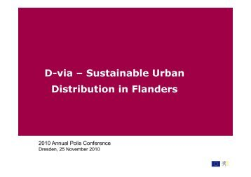 D-via – Sustainable Urban Distribution in Flanders